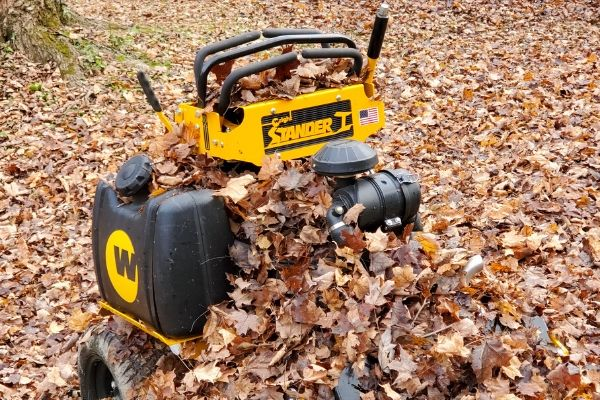 A professional piece of equipment used to clear leaves.